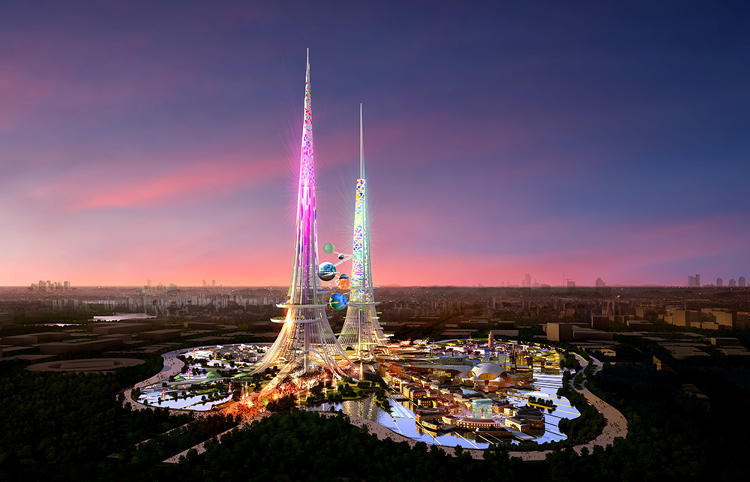 "<p>""In China there's a lot of competition between cities trying to out-'spectactularize' the next city,"" chairman Laurie Chetwood tells Co.Design in a phone interview. Chetwood and his team embraced the mandate to design something grand while layering in symbols that speak to China's cultural heritage and future aspirations.</p>"
