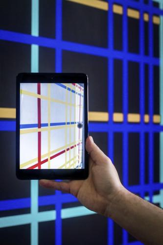 <p>When you look at them through the inverted color function on your iPhone or Android phone, the colors flip back, and the composition appears as Mondrian originally painted it.</p>