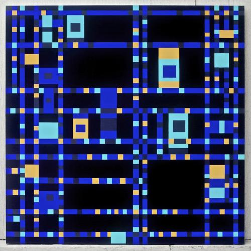 <p>In <em>Mondrian Inverted: The Viewer Is Not Present</em>, Feld faithfully reproduced Dutch painter Piet Mondrian's abstract geometric compositions--but inverted their color schemes.</p>