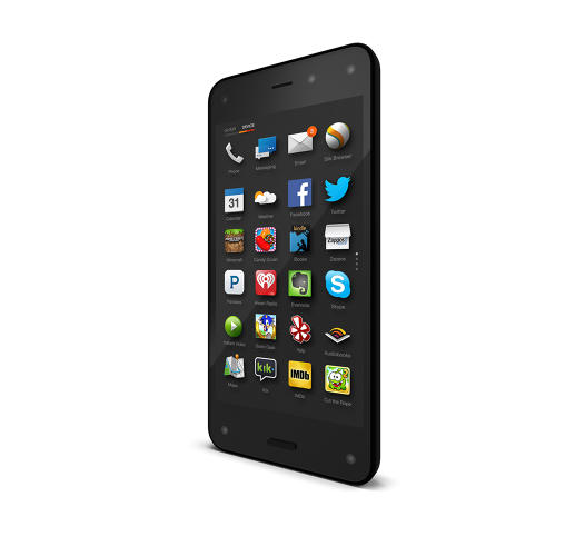 <p>A look at the Fire Phone's homescreen.</p>