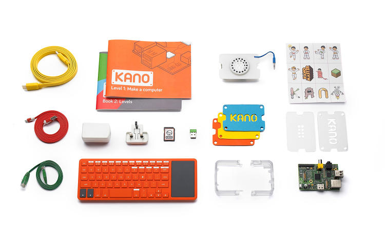 <p>Kano &quot;Kano's kit,&quot; a computer designed to help the people of all ages create a PC from scratch.</p>