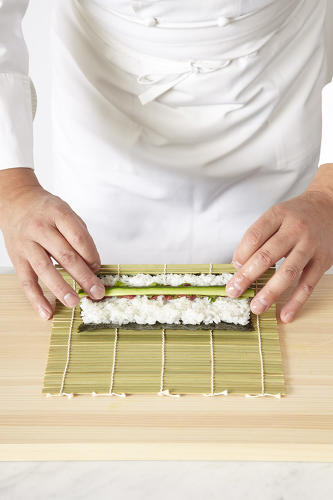 "<p>""Sushi is presented like art,"" Doumani says. ""Each piece creates a palate of colors, textures, and tastes.""</p>"
