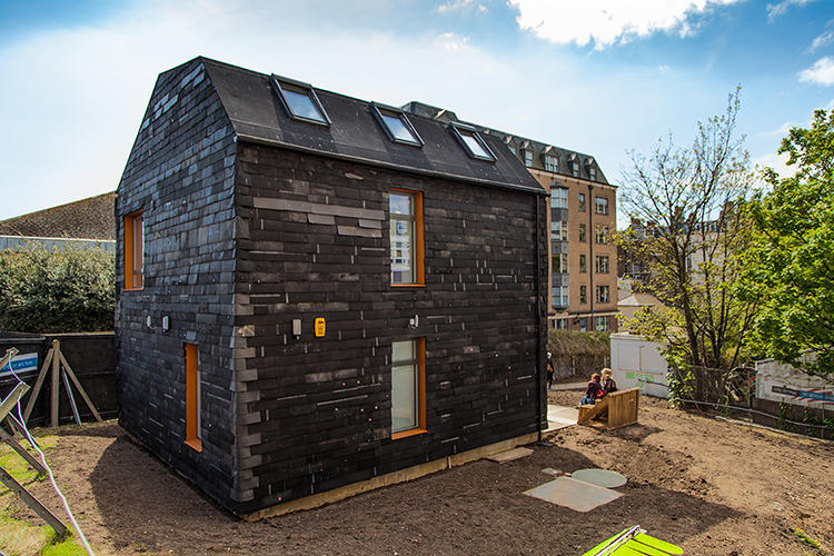 "<p>""The philosophy behind the build was to use construction waste for the frame of the building, and then infill between the frame with household and industrial waste--that's where we got the unusual stuff,"" says architect Duncan Baker-Brown of BBM, who built the house along with students and volunteers.</p>"