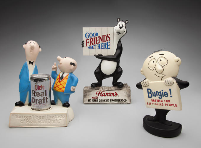 <p><strong>Bert and Harry Piel</strong> 1963,<br /> <strong>Hamm's Bear</strong> 1968,<br /> <strong>Burgie</strong> c.1970s</p>