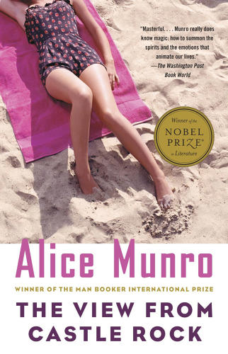 <p>The cover of Alice Munro's latest Nobel Prize-winning short fiction collection, <em>The View From Castle Rock</em>, suggests it's a breezy summer read--and not one meant for men.</p>