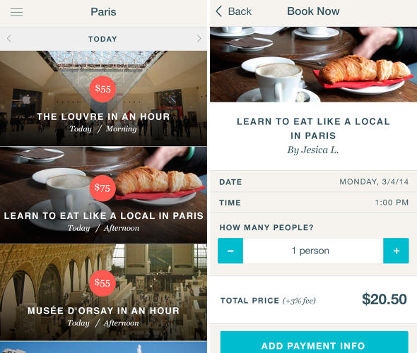 <p>The Vayable app allows travelers to quickly see the daily offerings in their city. Instant booking is made easy with the Vayable app.</p>