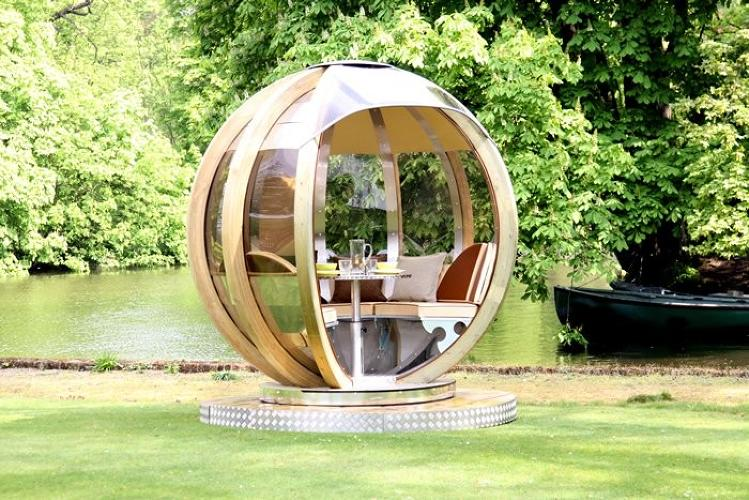 <p><a href=&quot;http://www.gizmag.com/g-pod-portable-unit/22781/&quot; target=&quot;_blank&quot;>The G-Pod</a>, created by British gardening specialists Ornate Garden, is a sphere. Crafted of aluminum, stainless steel, and treated wood, the structures are available in a variety of sizes and purposes.</p>