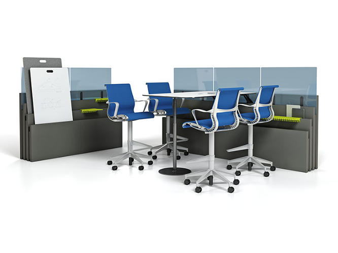 <p>Once those needs change, the workspace can be easily rearranged.</p>