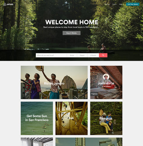 <p>Airbnb has also given a fresh coat of paint to its website and apps, which are now far cleaner than previous iterations, and feature subtle animations and splashier imagery, arranged in Windows Phone-style tiles.</p>