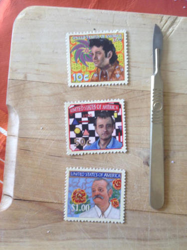 <p>Bill Murray in stamps.</p>