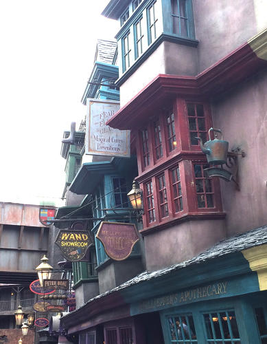 <p>Now on their branding resume are the facades, signage, interiors, and product packaging for such enchanted stores as The Leaky Cauldron, The Museum of Muggle Curiosities, Filibuster's Fireworks, The House-Elf Employment Agency, and Gringott's Bank.</p>