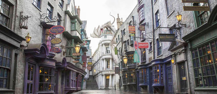 <p>To create the visuals for the newly opened Diagon Alley theme park at the Wizarding World of Harry Potter, Universal Studios tapped London-based design firm <a href=&quot;http://www.minalima.com/&quot; target=&quot;_blank&quot;>MinaLima</a>.</p>