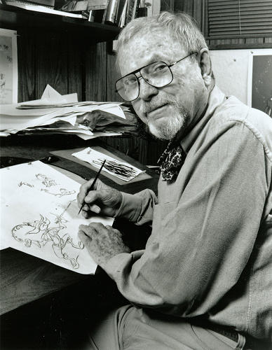 "<p>For three decades, animation director and artist<a href=&quot;http://en.wikipedia.org/wiki/Chuck_Jones&quot; target=&quot;_blank&quot;> Charles Martin ""Chuck"" Jones</a> was the mastermind behind these mania-filled classic cartoons.</p>"