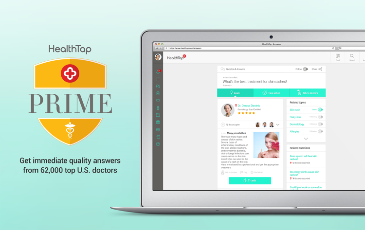 <p>This week, he launched HealthTap Prime, a subscription program that includes video consults with doctors, constantly curated health news and app recommendations from doctors, customized wellness checklists, and prescriptions.</p>