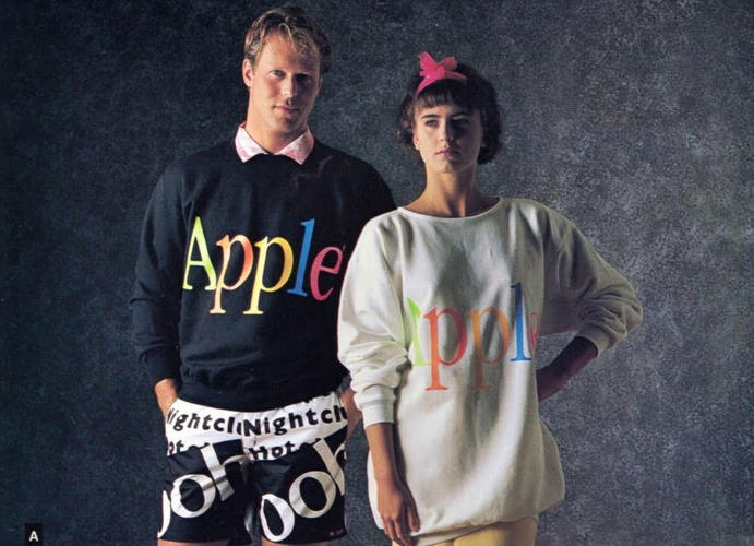 <p>These sweatshirts epitomize '80s throwback. You could totally pull them off today.</p>