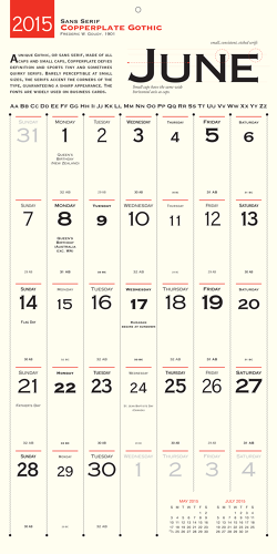 Calendar For Typography Nerds : Design nerd alert wall calendar honors a new typeface