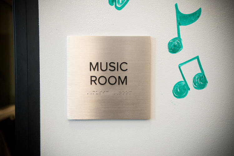 <p>The &quot;Music Room&quot; is a storage space for various instruments and music equipment. A recording studio is currently under construction.</p>