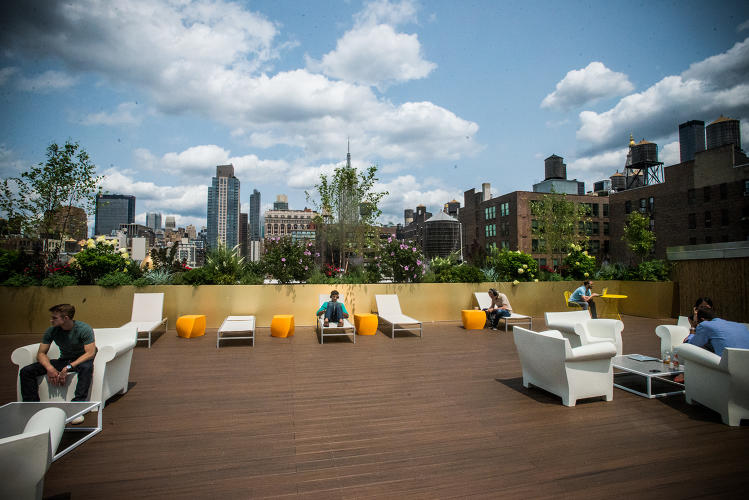 <p>What would a New York startup office be without some insane rooftop view?</p>