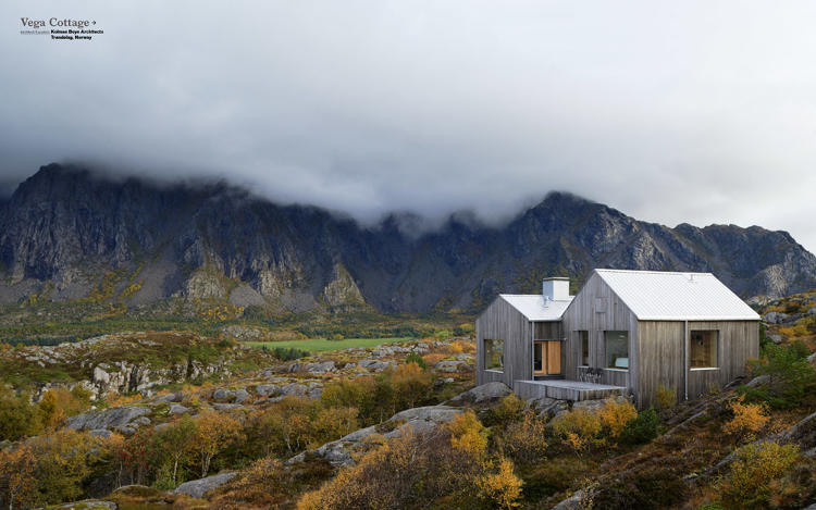 <p>Close to the polar circle, this simple house borrows the gunmetal-gray color scheme of the surrounding bedrock in its harsh northern landscape, and its roof reflects the silver-white of the perpetually overcast sky.</p>