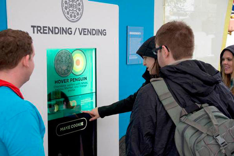 <p>Eat the Tweet, 3-D custom-printed Oreos at SXSW Interactive based on Twitter trending topics, is ridiculous, but it draws lines for hours and is the most talked-about stunt at the conference.</p>