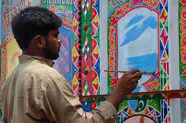 <p>Haider Ali at work in 2002.</p>