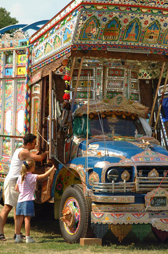 <p>Haider Ali and  Jamil-ud-Din's 2002 Jingle Truck, commissioned by the Smithsonian Institution.</p>