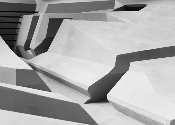 <p>The designers spent 10 days building the labyrinthine &quot;experimental work landscape&quot; from plywood frames and a secret render (described as being &quot;as hard as concrete&quot;).</p>