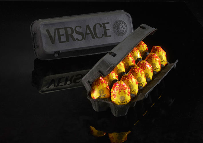 <p>Eggs by Versace.</p>