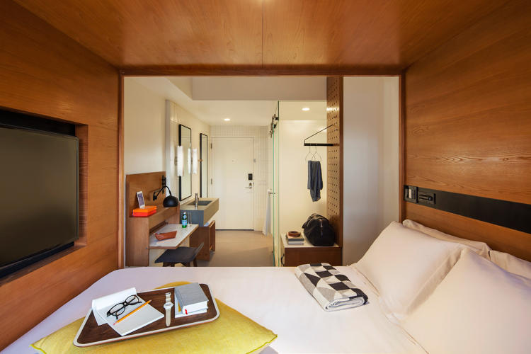 The micro living trend checks into hotels co design for Small hotel room