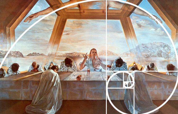 <p><em>The Sacrament of the Last Supper</em>, 1955, Salvador Dali. This was painted on a Golden Rectangle-proportioned canvas, but the Golden Ratio has nothing to do with why we find it beautiful.</p>