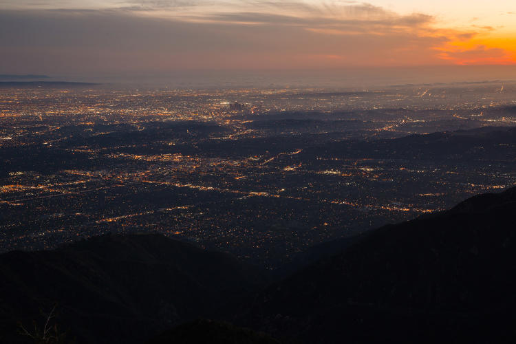 <p>Sunset over downtown Los Angeles. Taken from Mount Wilson Observatory 2015.</p>