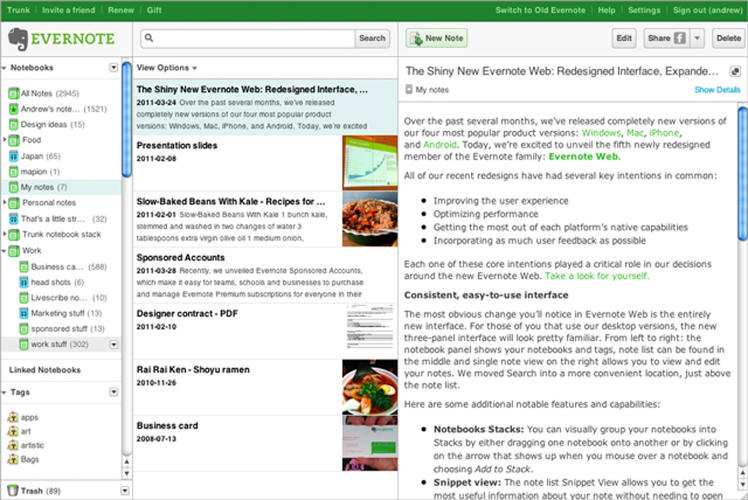 <p>Evernote: A cross-platform digital locker for all your recipes, notes, recipts, and other digital files.</p>