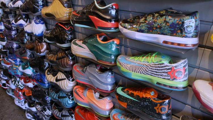 <p>These shoes are stocked in a Tokyo store that caters to a massive Japanese appetite for sneakers.</p>