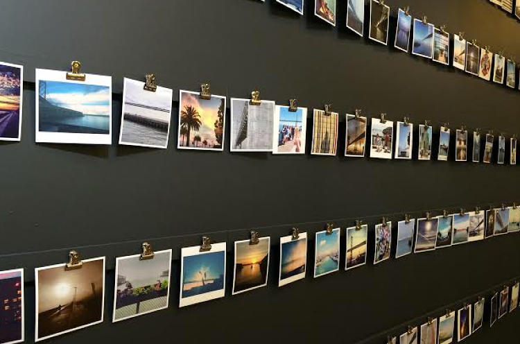 <p>IDEO's Instagram art installation was a pet project of an employee who collected images from other staffers.</p>