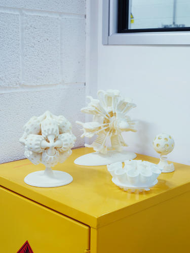 <p>3-D models generated at the company's rapid prototyping room.</p>