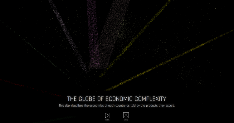 <p>Harvard researchers mapped out international exports in an infographic called the <a href=&quot;http://globe.cid.harvard.edu/?mode=productspace3D&amp;id=8509&quot; target=&quot;_blank&quot;>Globe of Economic Complexity</a>, an interactive website that visualizes the exports of every country around the world.</p>
