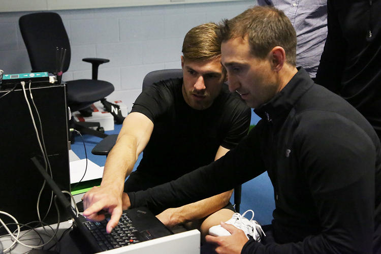 <p><strong>Aaron Ramsey</strong> Arsenal midfielder working with New Balance</p>