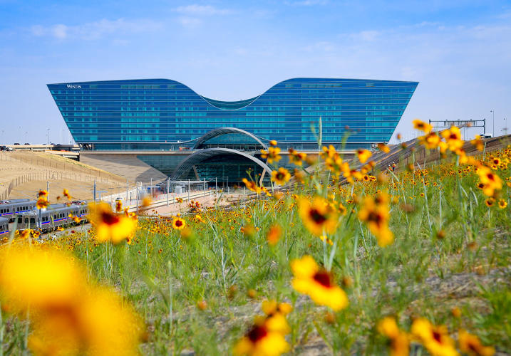 <p>Gensler designed the Denver International Airport Hotel and Transit Center, which opened Nov. 19.</p>