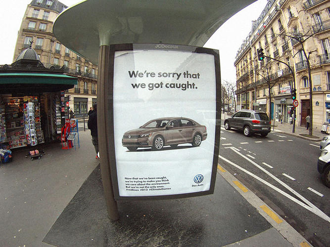<p>This fake ad was one of 600 plastered around Paris.</p>