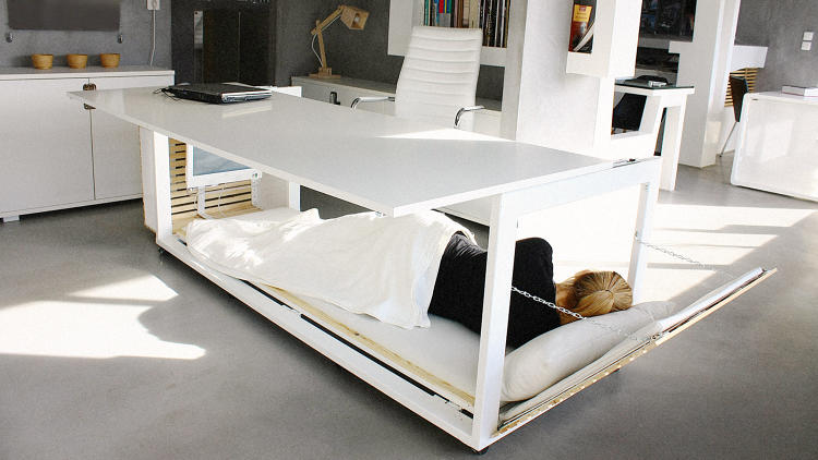 <p><strong>9. <a href=&quot;http://www.fastcoexist.com/3051818/this-desk-hides-a-personal-nap-room&quot; target=&quot;_self&quot;>This Desk Hides A Personal Nap Room</a></strong><br /> Everyone should be napping at work. And why not do it in style?</p>