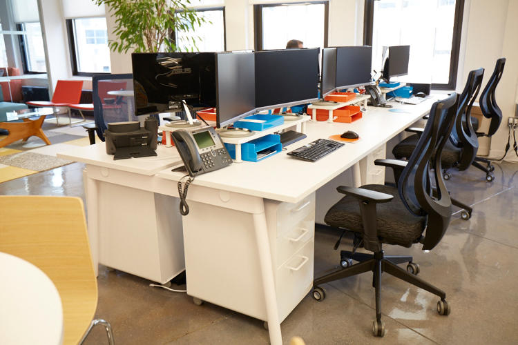 "<p>""I'm a strong believer that if you organize your work environment with color, it will help your thoughts be more organized and colorful,"" says Miller. Blue desk supplies, for instance, have a calming effect, while orange stimulates endurance for those long-term projects.</p>"