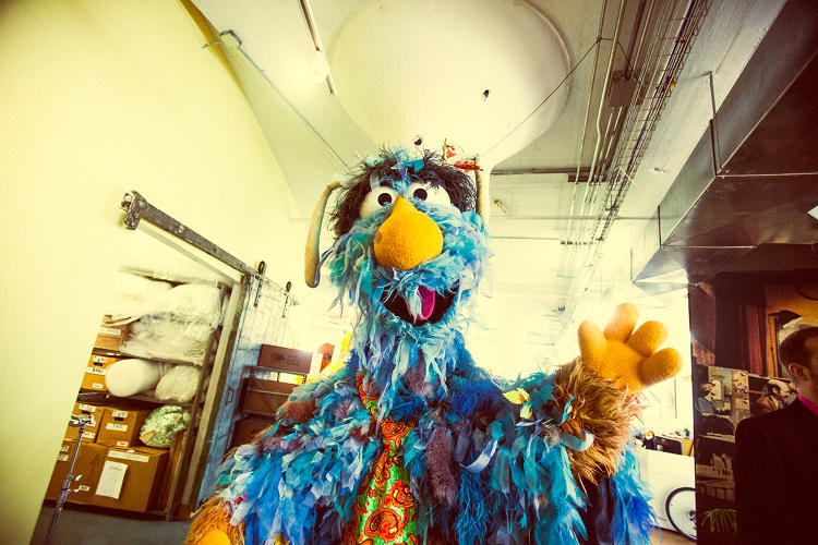 <p>A muppet says hi at Jim Henson's Creature Shop.</p>