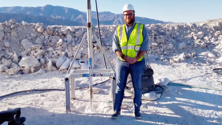 <p>Fast Company's Neal Ungerleider onsite at the quarry.</p>
