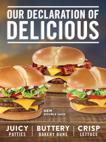 <p>The menu overhaul centers around burger patties that are no longer seasoned, a change in lettuce, and a switch to buttered buns seemingly inspired by the success of Jack in the Box's Buttery Jack burgers.</p>