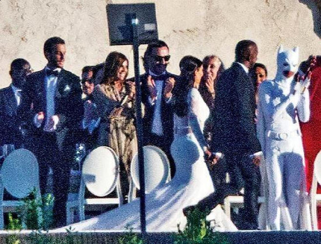 <p>Jaden Smith in his Bizarro Batman look, at the wedding of Kim Kardashian and Kanye West.</p>