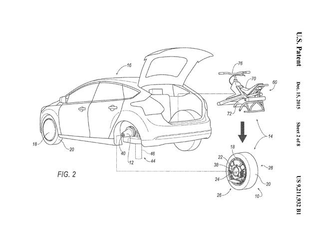 <p>Somehow, the inventor has made the pop-off unicycle even less practical than usual by equipping it with that car wheel.</p>