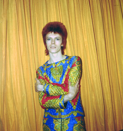 <p>Another creation by Freddy Buretti, this quilted two-piece suit was designed in 1972 for Bowie's <em>Ziggy Stardust</em> tour.</p>