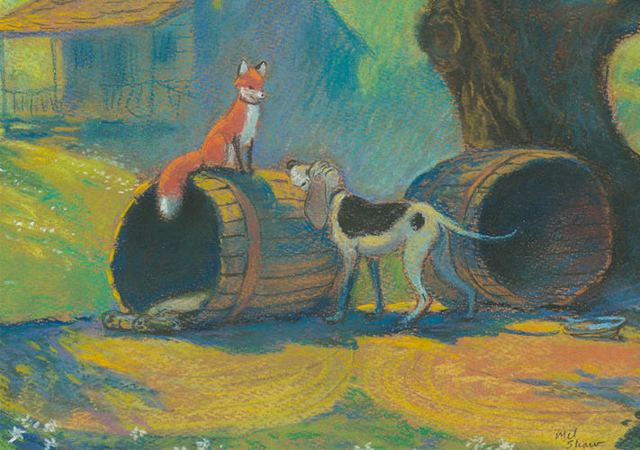 <p>Copper and Tod from <em>The Fox and the Hound</em>, 1981</p>