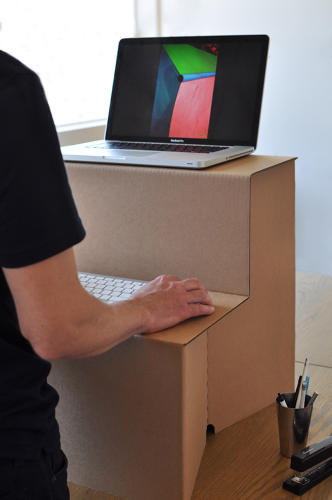 <p>It was made at the request of Hootsuite founder Ryan Holmes, who needed a standing desk himself and was frustrated at the lack of affordable desks on the market.</p>