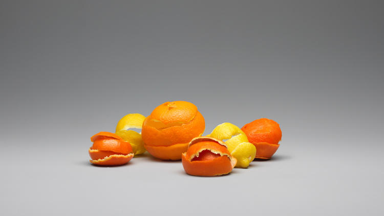 <p>2: Recycling food waste into yarn: Orange juice manufacturing results in piles of wasted peels and seeds--maybe as much as 25 million tons of waste a year.</p>